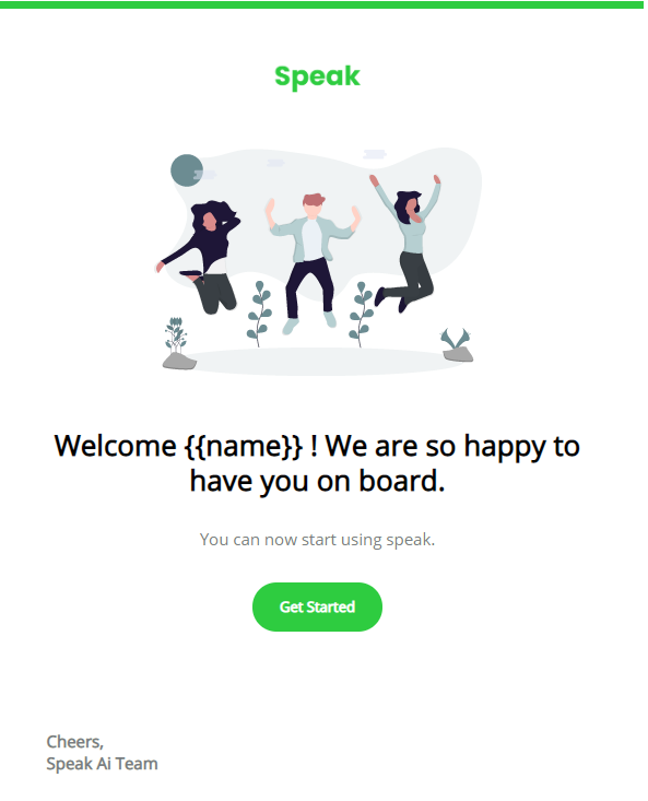 First Onboarding Email