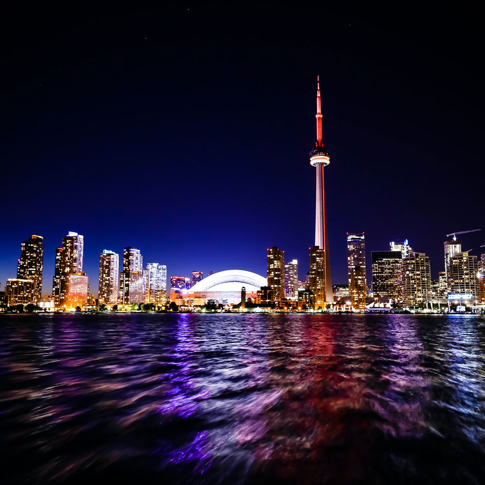 Toronto Skyline Water CN Tower