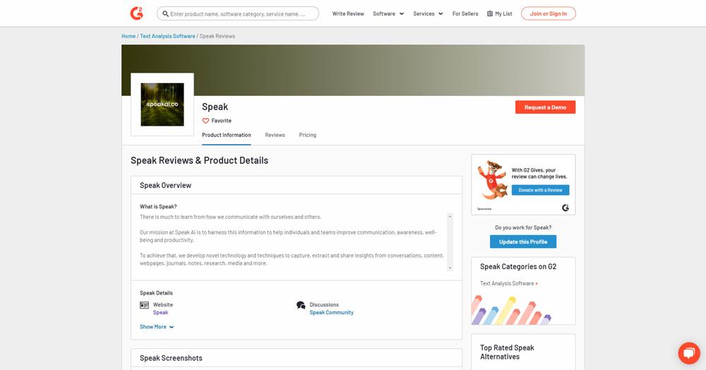 G2-Speak-Review-Listing