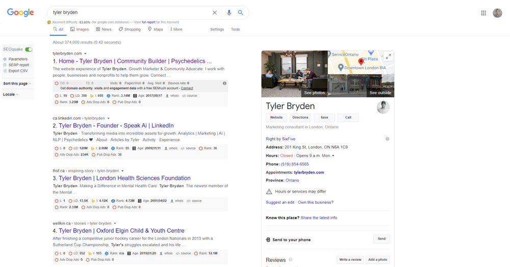 Search Engines Results Page