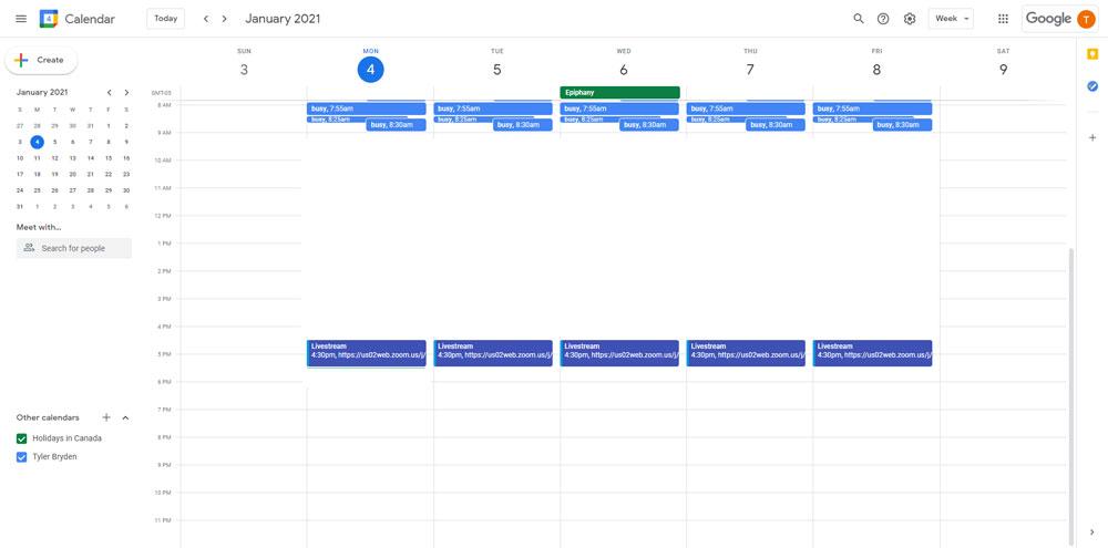 Tyler Bryden Content Calendar